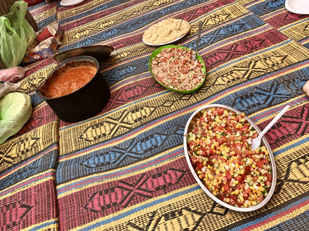 Hot vegetable stew and salads with the Bedouins - exploring Israel & Jordan cuisine