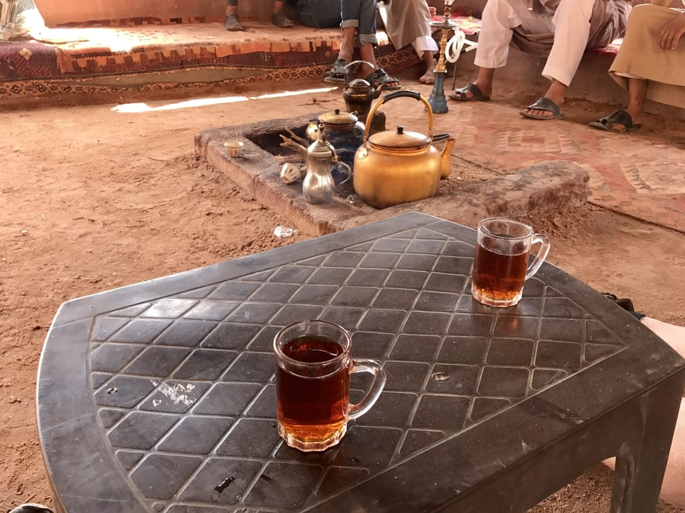 Hot sweet tea is a hallmark of Bedouin cuisine and their hospitality culture