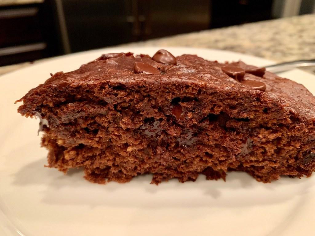 dark chocolate olive oil banana bread - slice