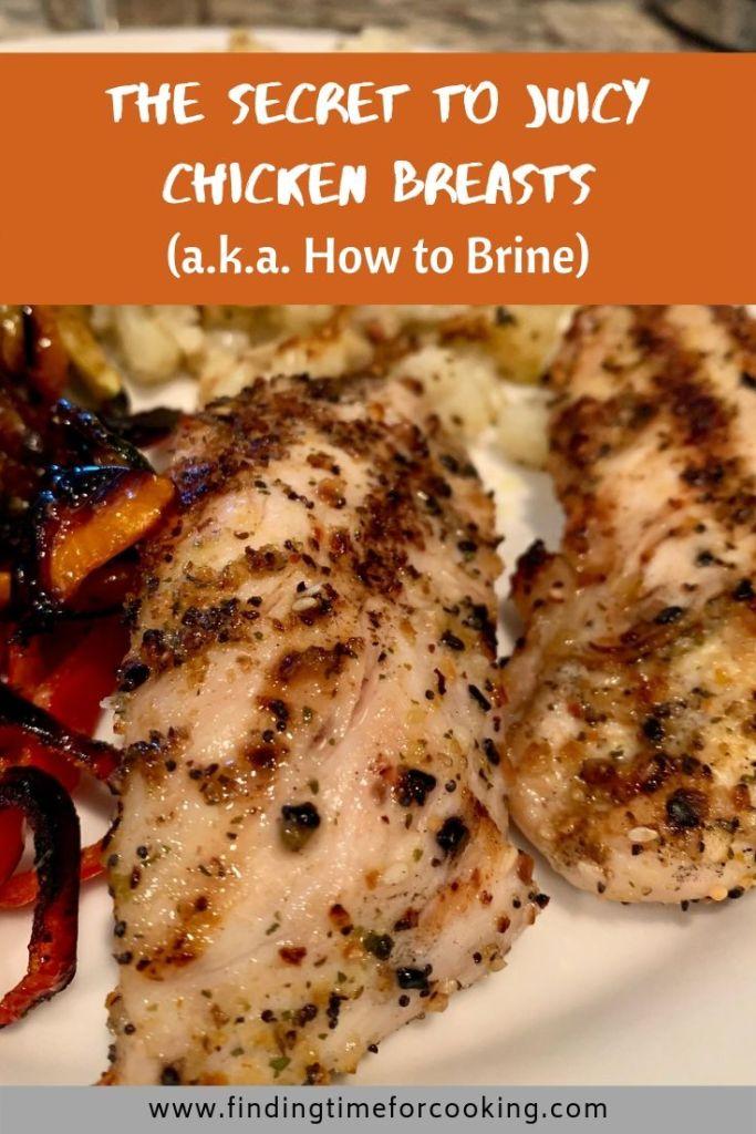 How to Brine Chicken Breasts - Pinterest overlay