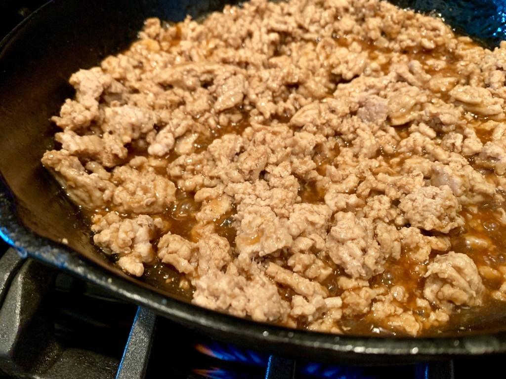 thai ground chicken and sauce