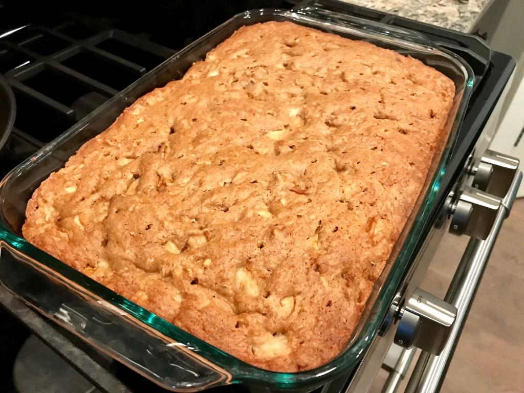 pear hazelnut cake - baked