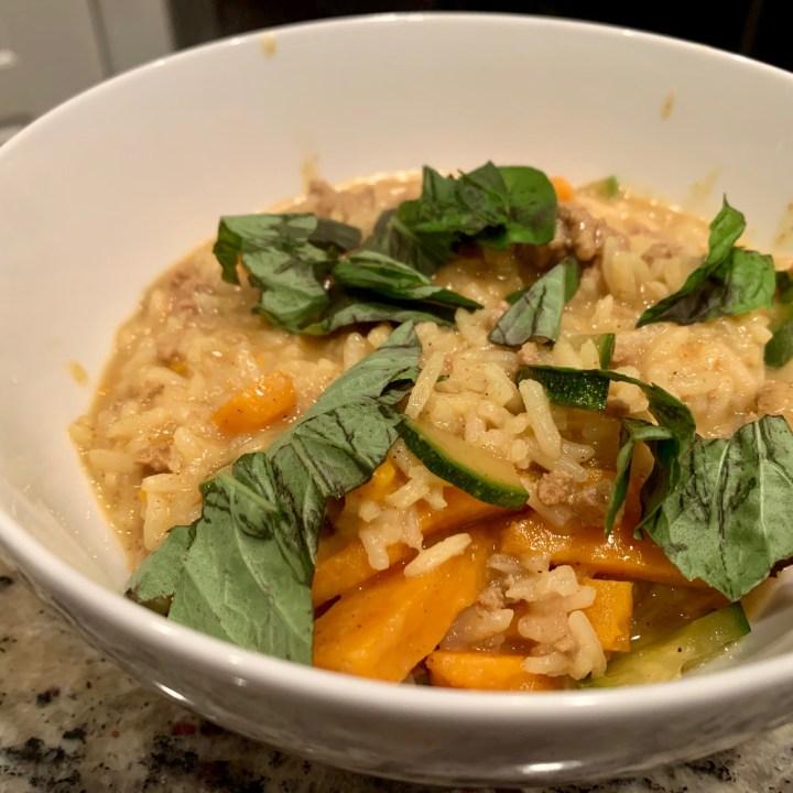 One-Skillet Thai Ground Turkey Curry with Rice