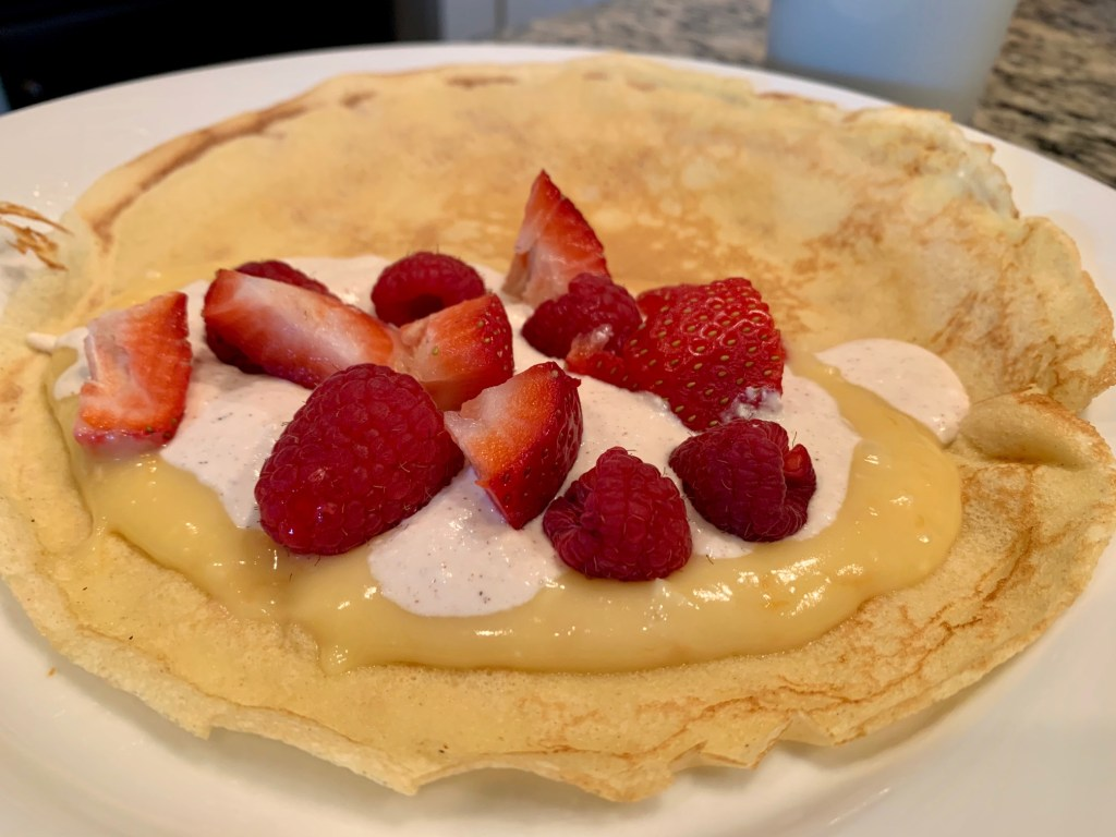 Easy Basic Crepes Recipe | This delicious crepes recipe only takes a few minutes to make and is crazy flexible...sweet or savory, your choice! A simple batter and many possibilities, perfect for breakfast, brunch, or dinner and a great Days of Unleavened Bread option. #unleavened #brunch #crepes