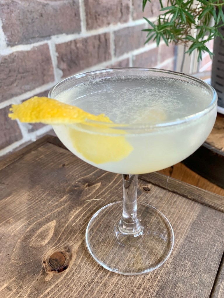 "A Classic Gin ""Army & Navy"" Cocktail 