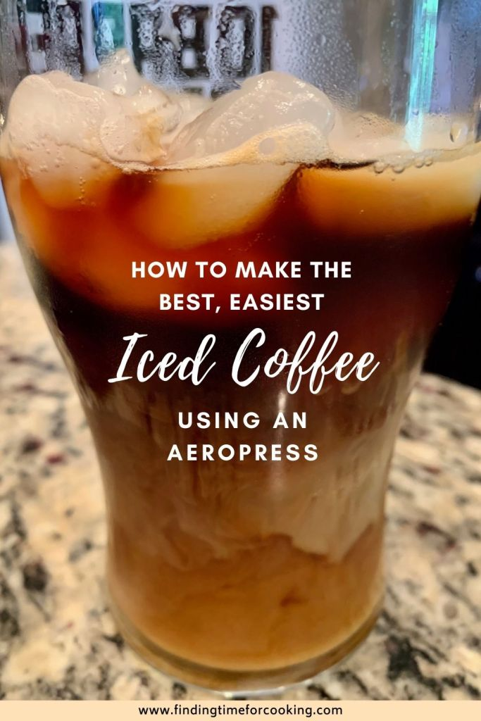 How to Make the Best Iced Coffee at Home | Making an iced coffee with the Aeropress is super fast, easy, and better than cold brew coffee! An iced coffee Aeropress style takes just a few minutes and will make you ditch a coffee shop habit. How a $30 gadget will transform your coffee routine! #icedcoffee #coffee #aeropress