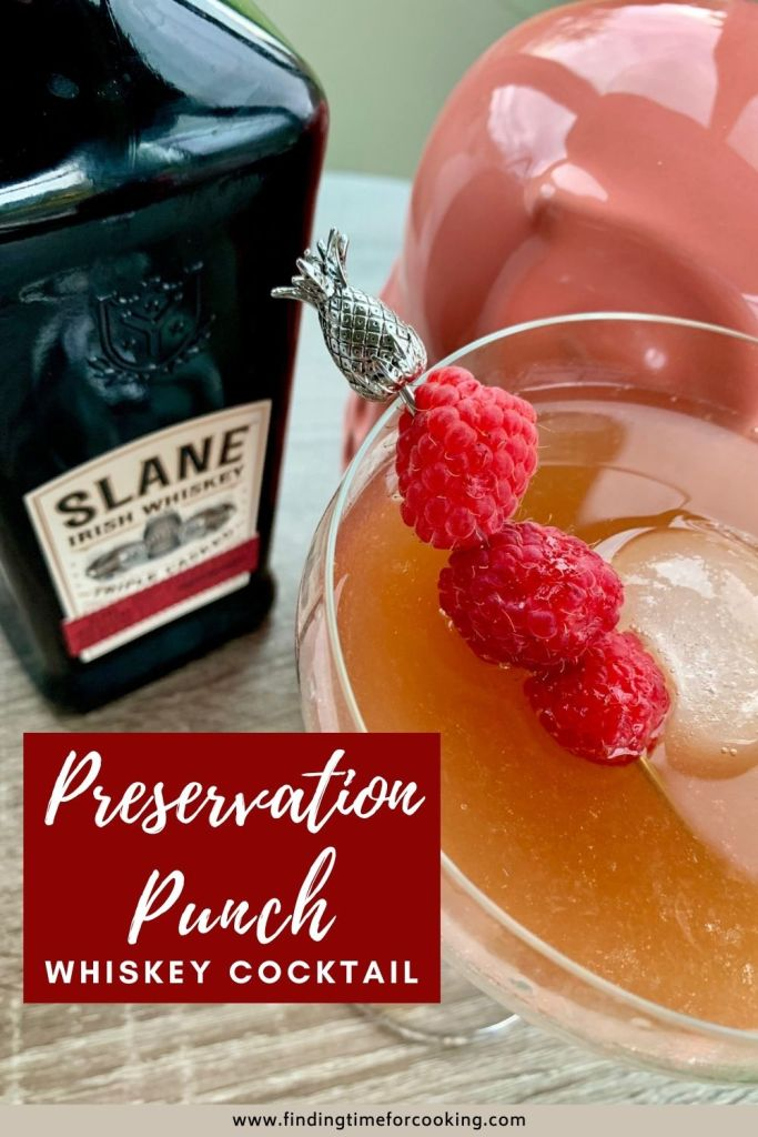 Preservation Punch: A Lovely Fruity Whiskey Cocktail | I tried this Slane cocktail from a bartender in Oakland via @thirsty, and loved the balance of sweet and acidic. A perfect fall cocktail using whiskey, jam, lemon juice, and a bit of balsamic vinegar. #cocktail #fallcocktail #drinkrecipes #whiskey