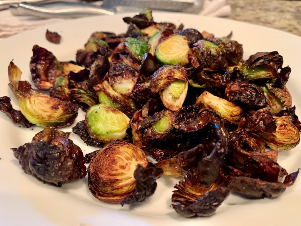 Easy side dish - honey balsamic brussels sprouts