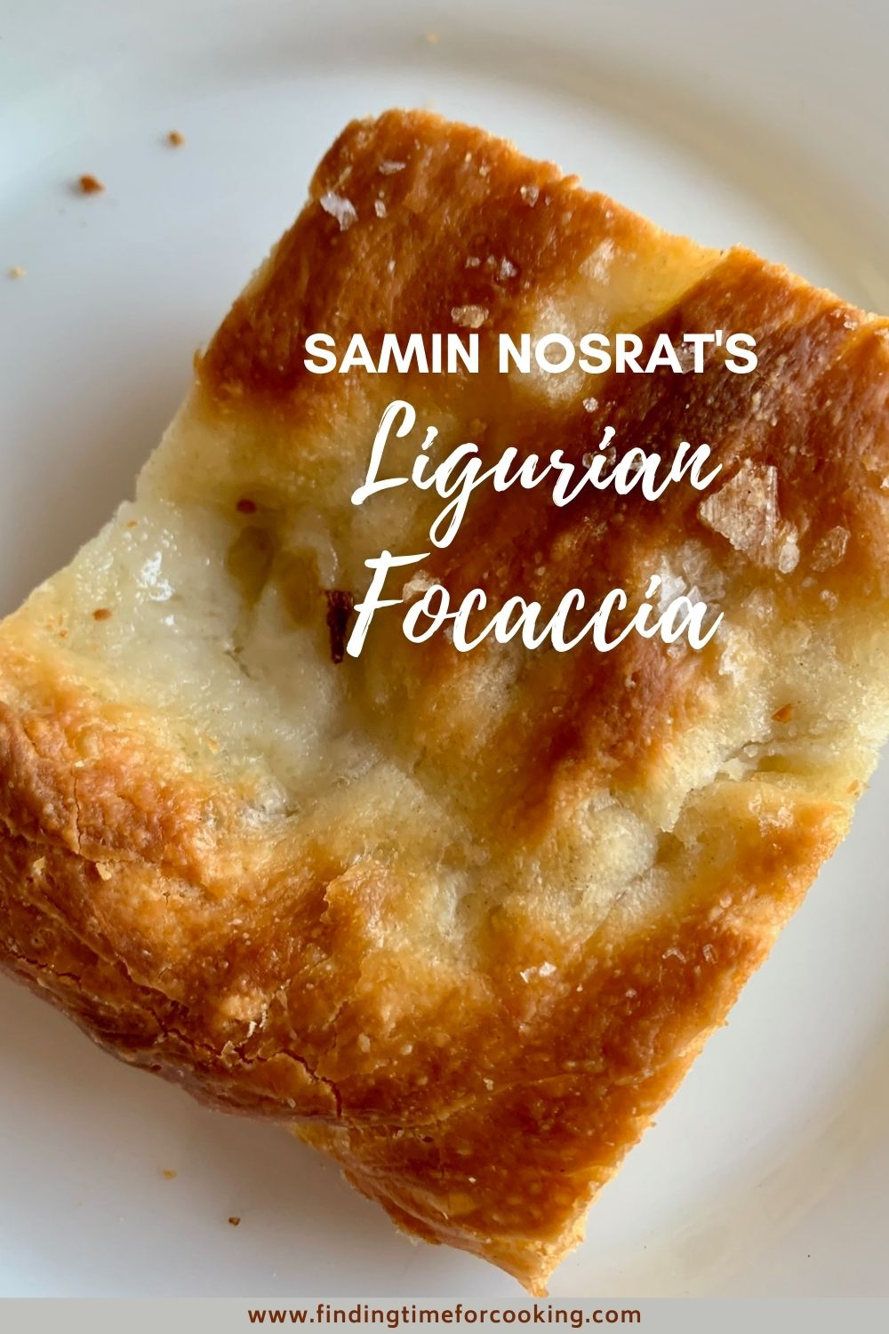 How to Make Ligurian Focaccia | Ever since watching Samin Nosrat make it on Netflix, I've been obsessed with making this salty, golden, crunchy amazing focaccia bread. It's not difficult, just requires lots of rising time, and makes the best bread ever! Step-by-step instructions on making Ligurian Focaccia from Salt, Fat, Acid, Heat. #focaccia #breadrecipe