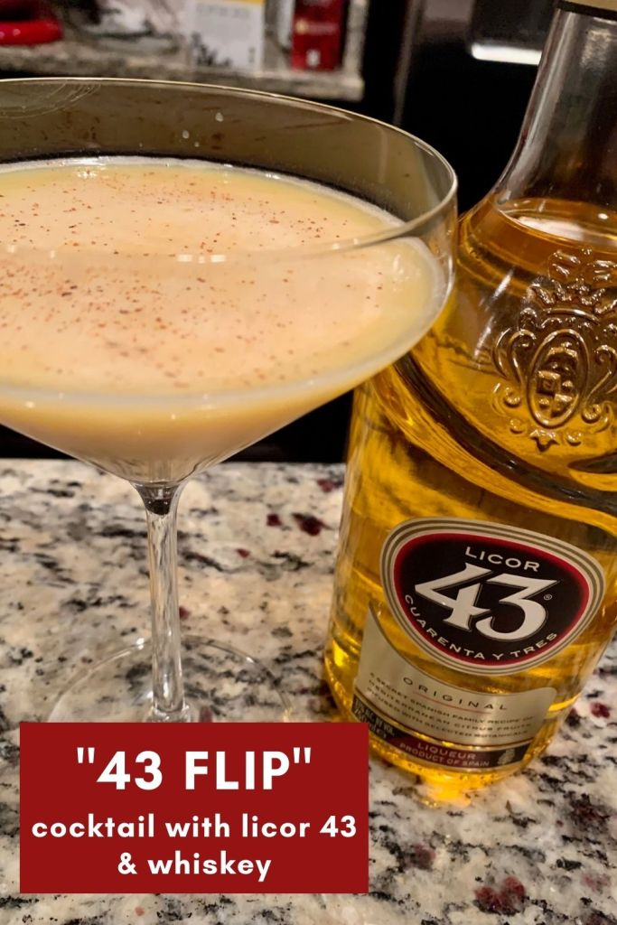 """43 Flip"": A Licor 43 Cocktail with Bourbon 
