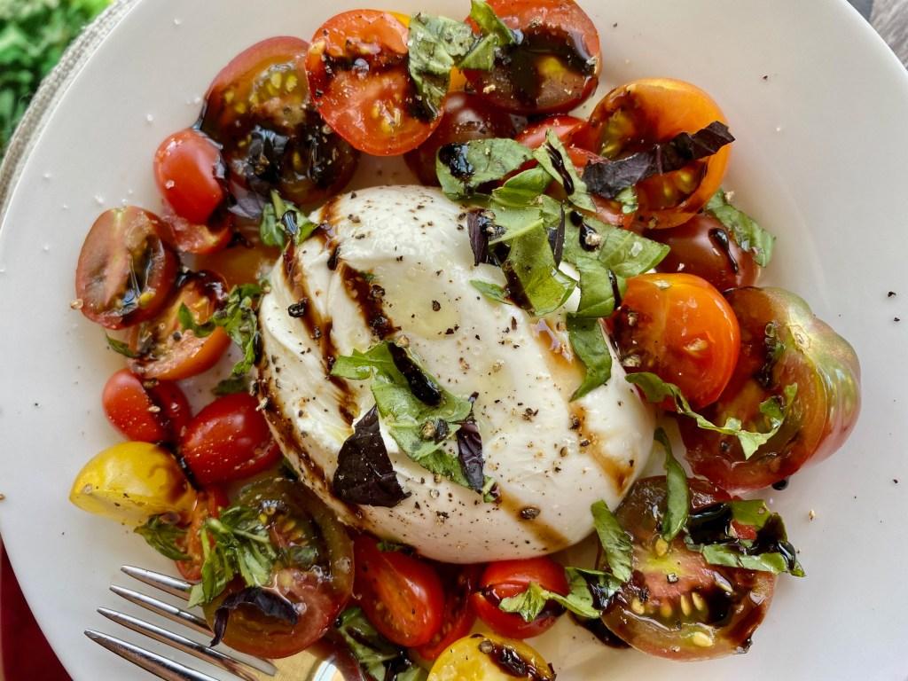 The Best Burrata Caprese Salad | Caprese with burrata is so much better than with mozzarella!