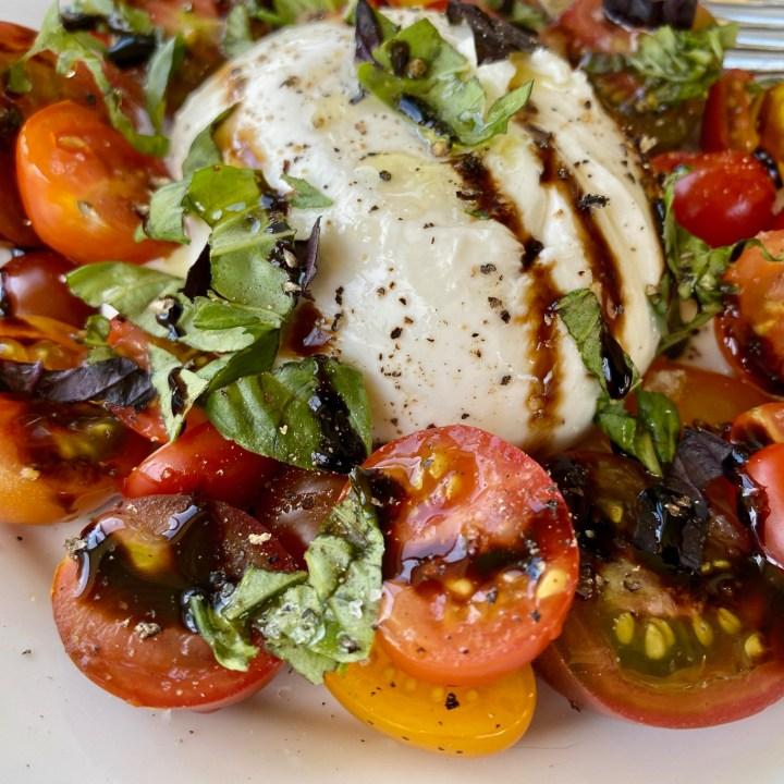 Simple Burrata Caprese Salad
