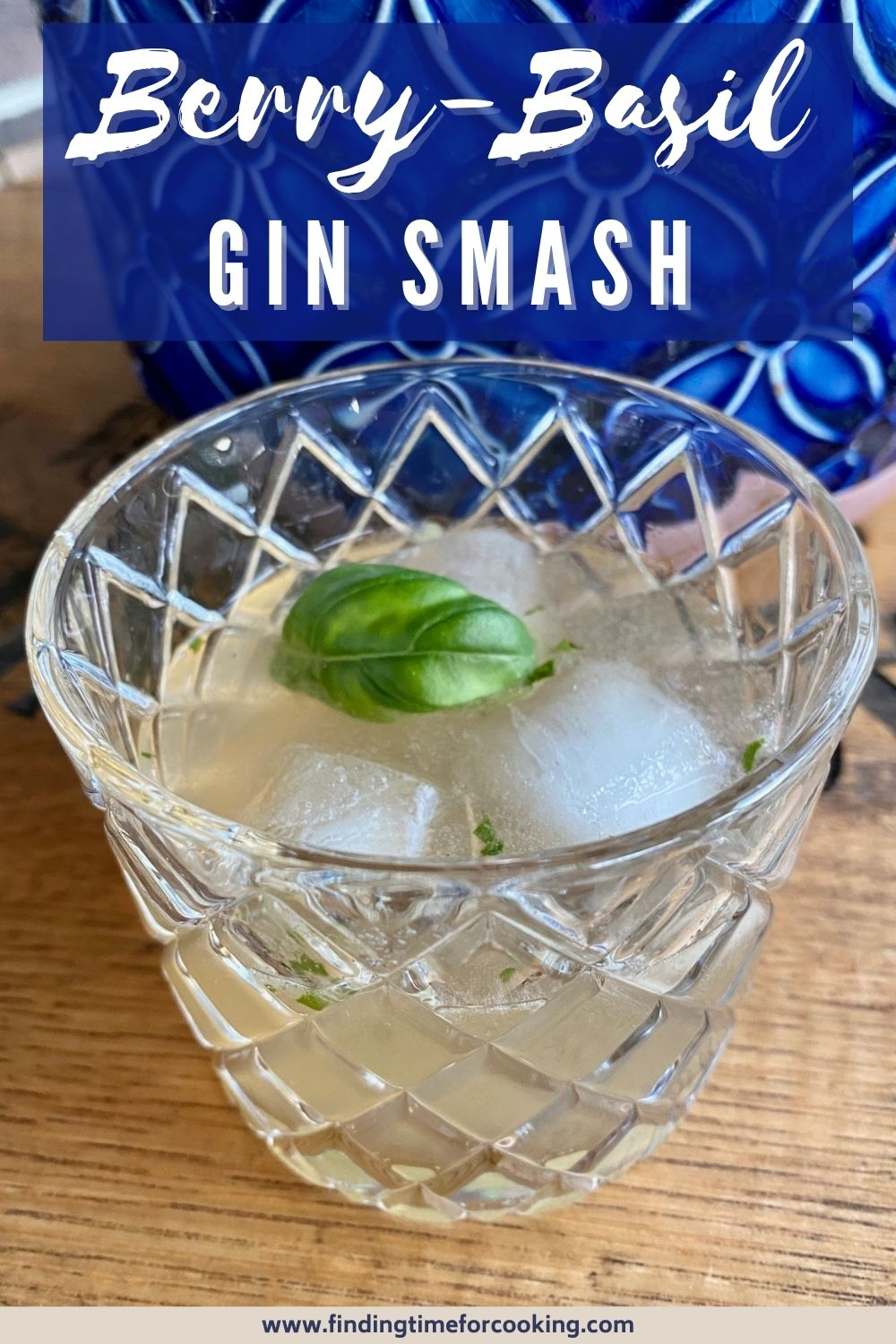 Berry-Basil Smash, a Refreshing Gin Cocktail | This delicious gin cocktail with Chambord, lemon juice, and fresh basil is a perfect spring drink or summer cocktail when fresh basil is plentiful, but is wonderful all year.  Easy gin cocktail, easy cocktail with basil.  #drinkrecipe #cocktail #basil #gin #smashcocktail