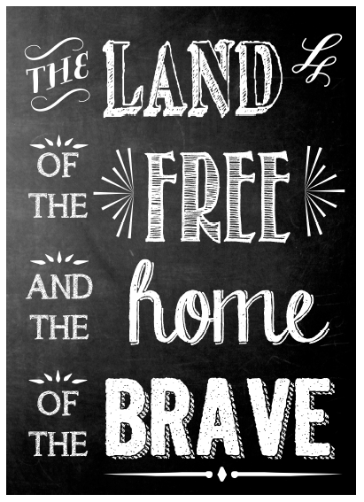 Land of the Free Printable