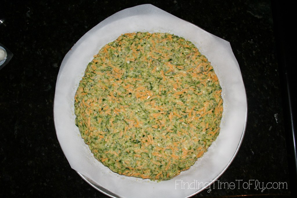 Zucchini Crust Low Carb Pizza-form crust