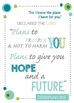 Jeremiah 29:11 free printable