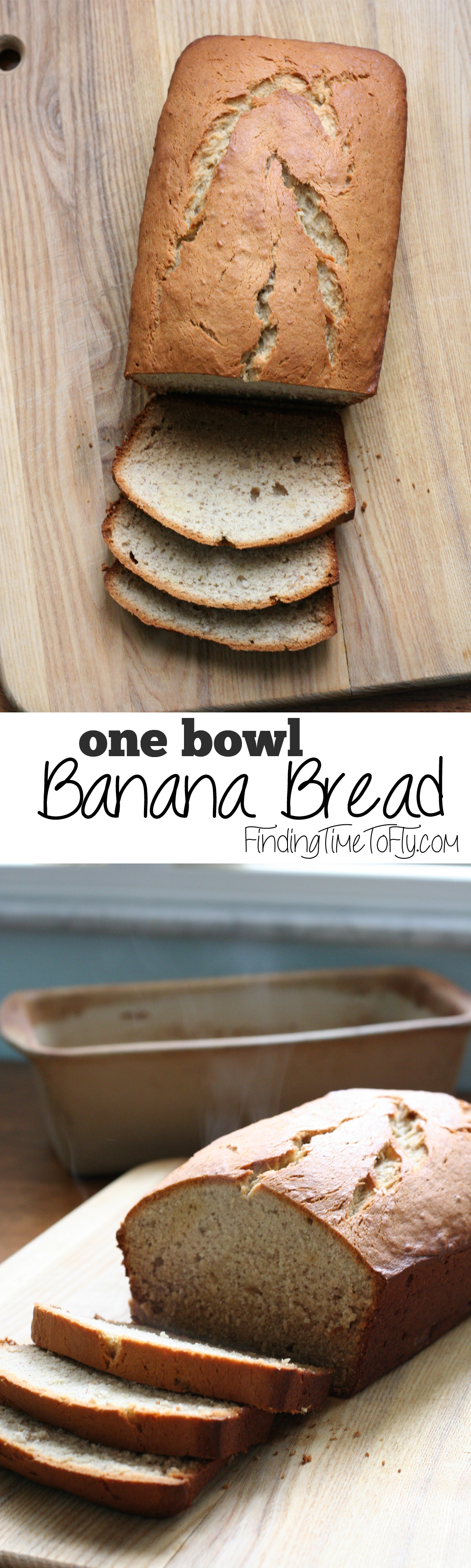 Delicious Banana Bread made using only one mixing bowl.