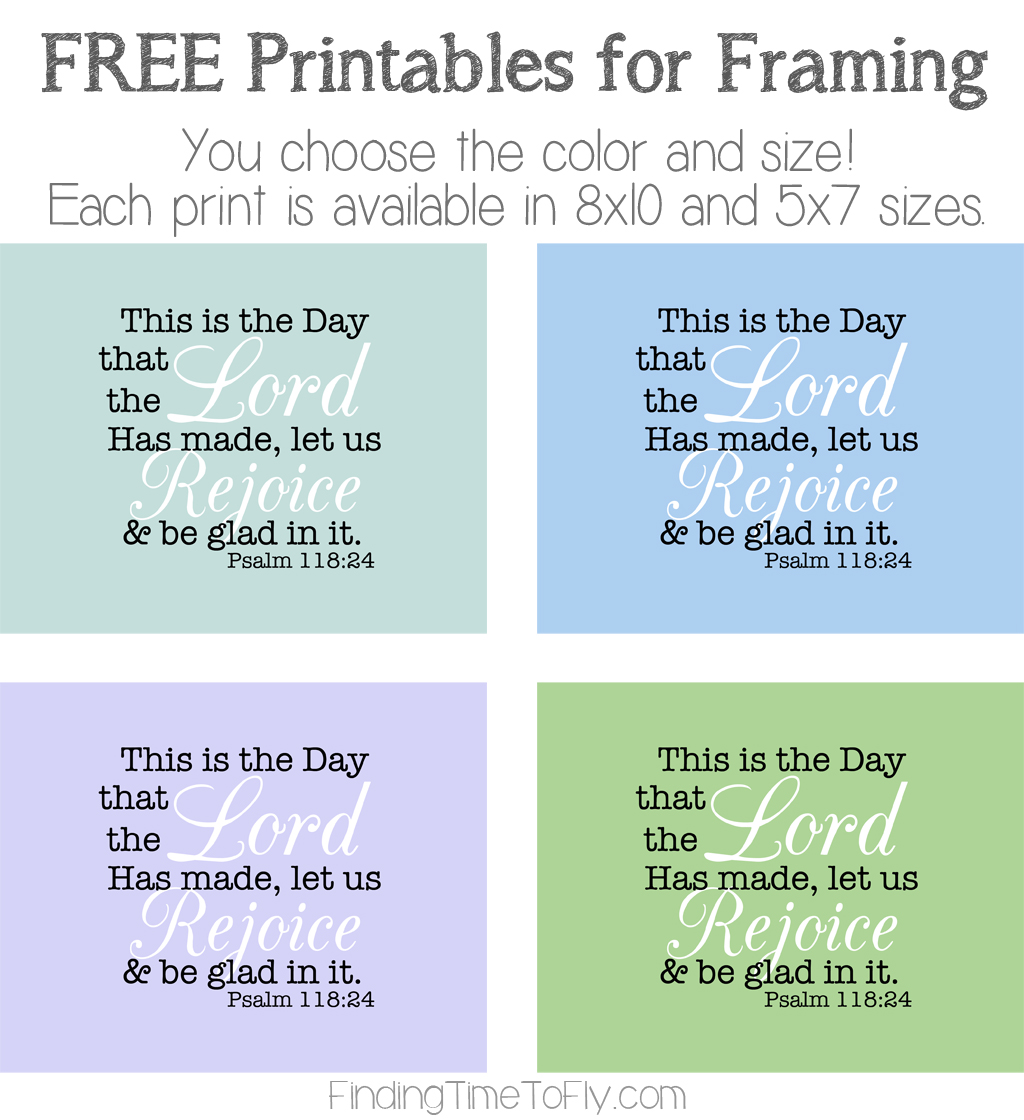 This Is The Day Free Printable in 4 Colors and 2 Sizes