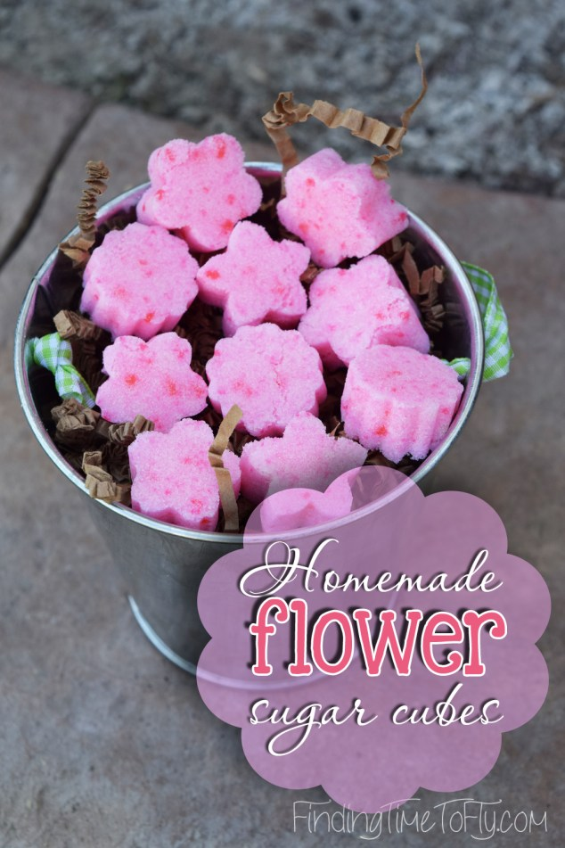 Homemade Flower Sugar Cubes