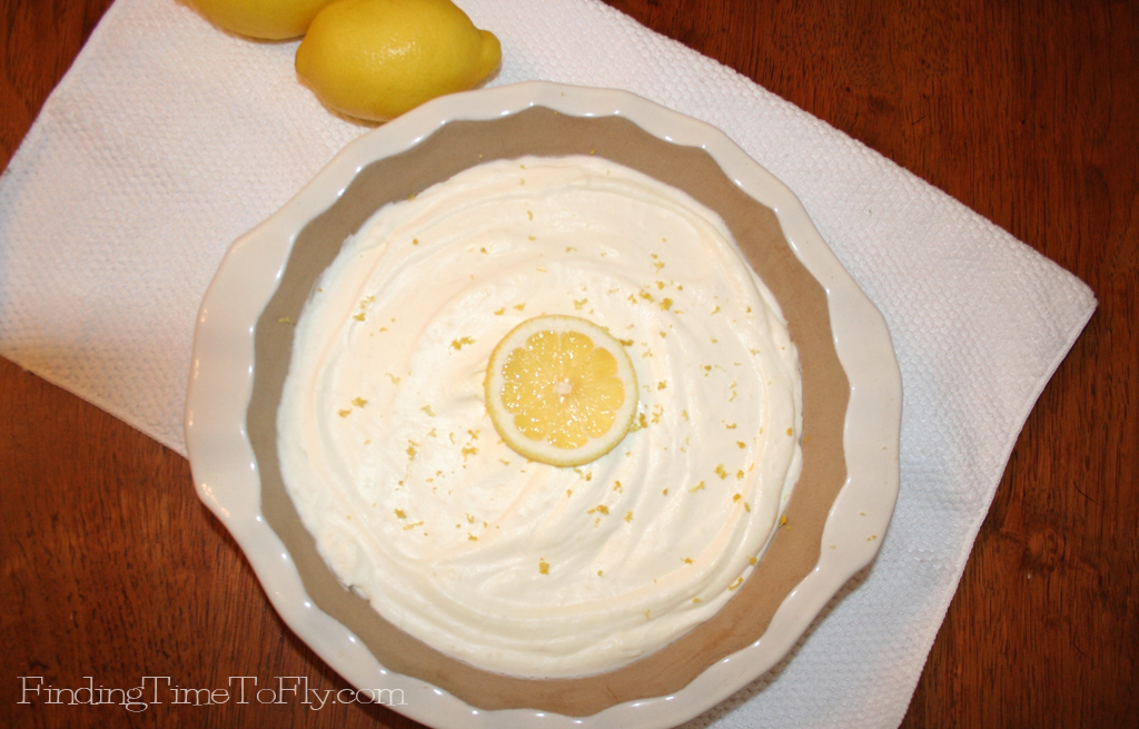 This Skinny Lemon Cream Pie is low carb and delicious. I make it all the time, and our whole family loves it!