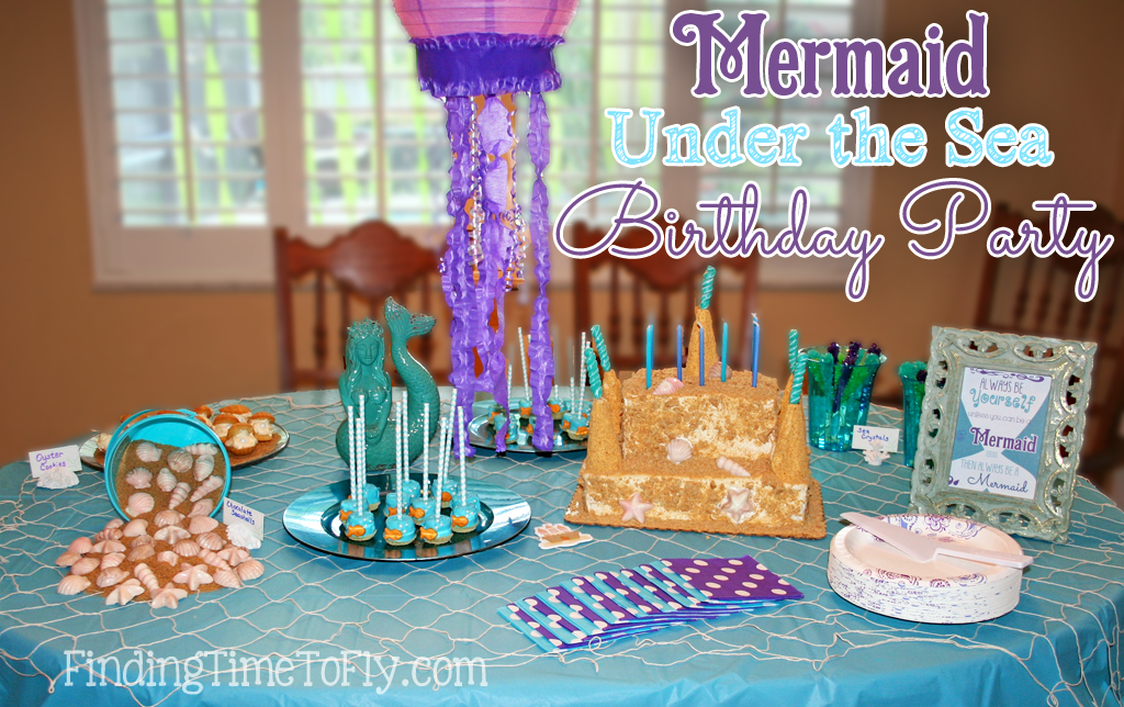Mermaid Under the Sea birthday party...ideas, food, decor, great instructions and lots of pics.