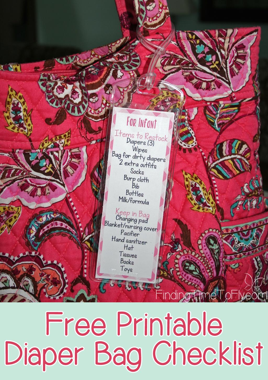 Diaper Bag Checklist - pin_2