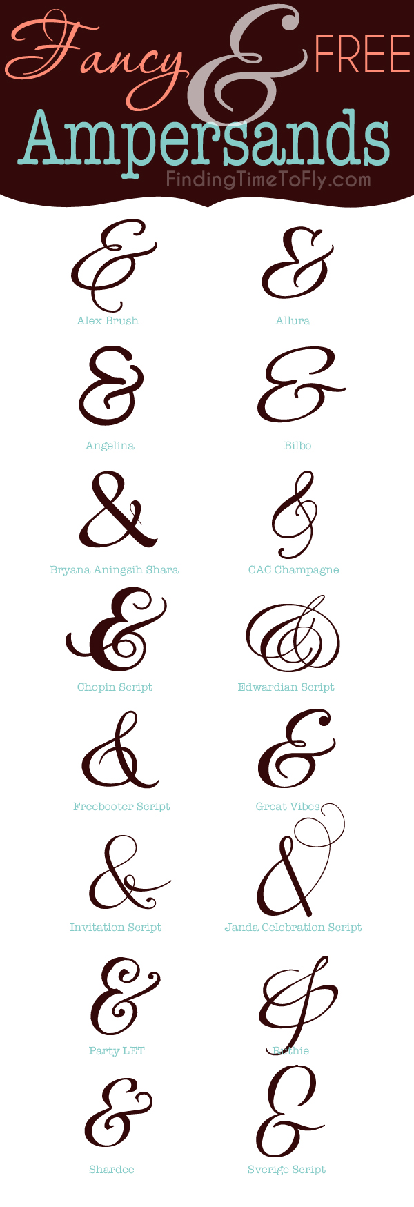 Fancy and Free Ampersands