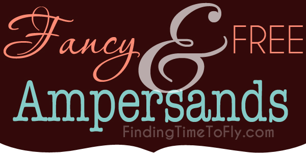 Free and Fancy Ampersands to use as a reference guide.