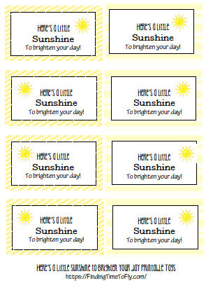 Yellow DIY Gift Basket Printable Labels