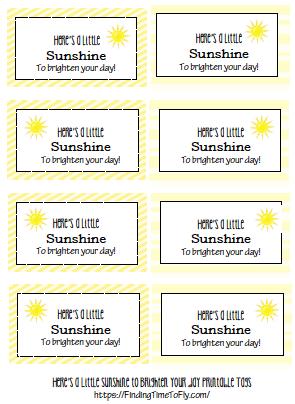 Yellow DIY Gift Basket Printable Labels