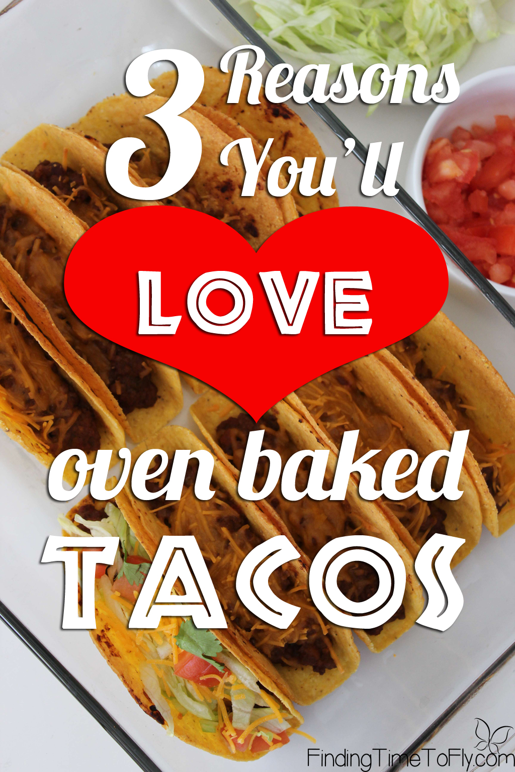 Easy weeknight dinner idea! Quick, inexpensive and easy to clean up Oven Baked Tacos.