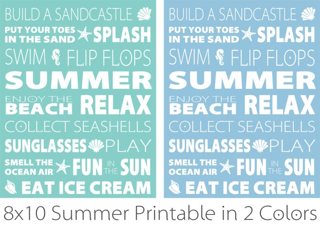 Summer Subway Art Printable