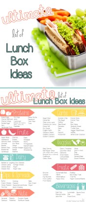 This really is the Ultimate List of Lunch Box Ideas! I love how it's broken down into categories and easy to read. Such a handy tool for packing school lunches!