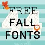 44 Free Fall Fonts