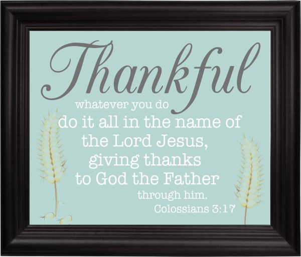 Thankful fall printable