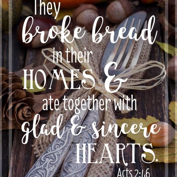 Acts 2:46 Hi-Res Image 8×10