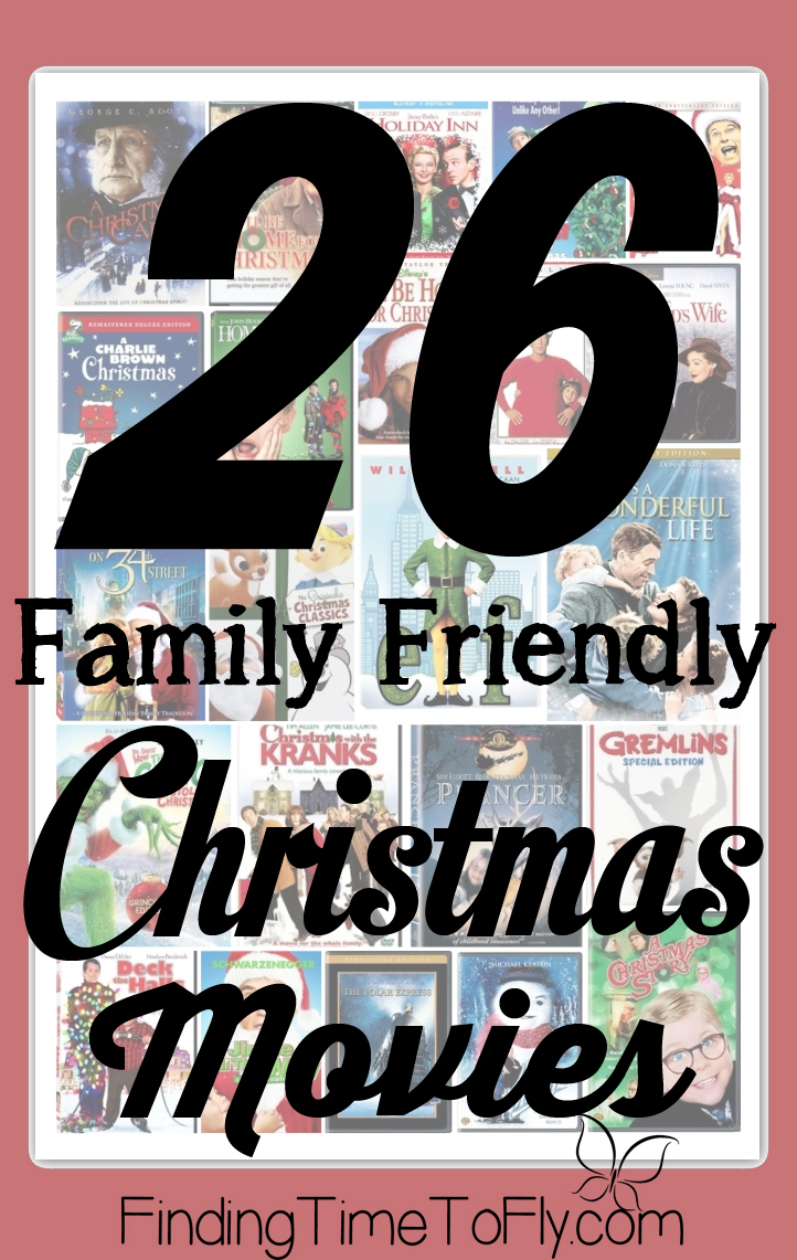This is a great list of Family Friendly Christmas movies! All are rated PG, G or not rated.