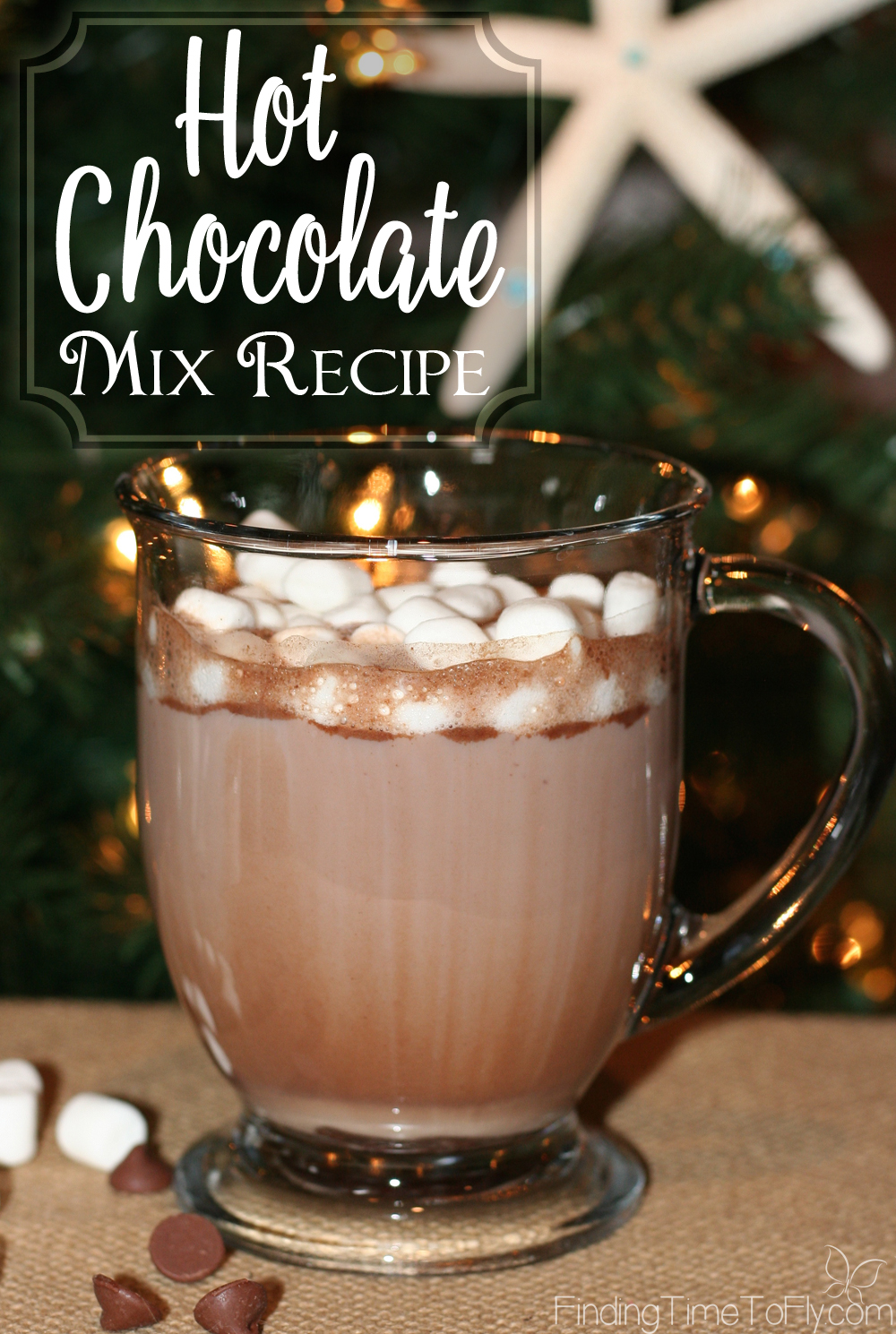 This homemade Hot Chocolate Mix Recipe uses ground chocolate and white chocolate chips. I'm making my own bulk hot chocolate mix this year!