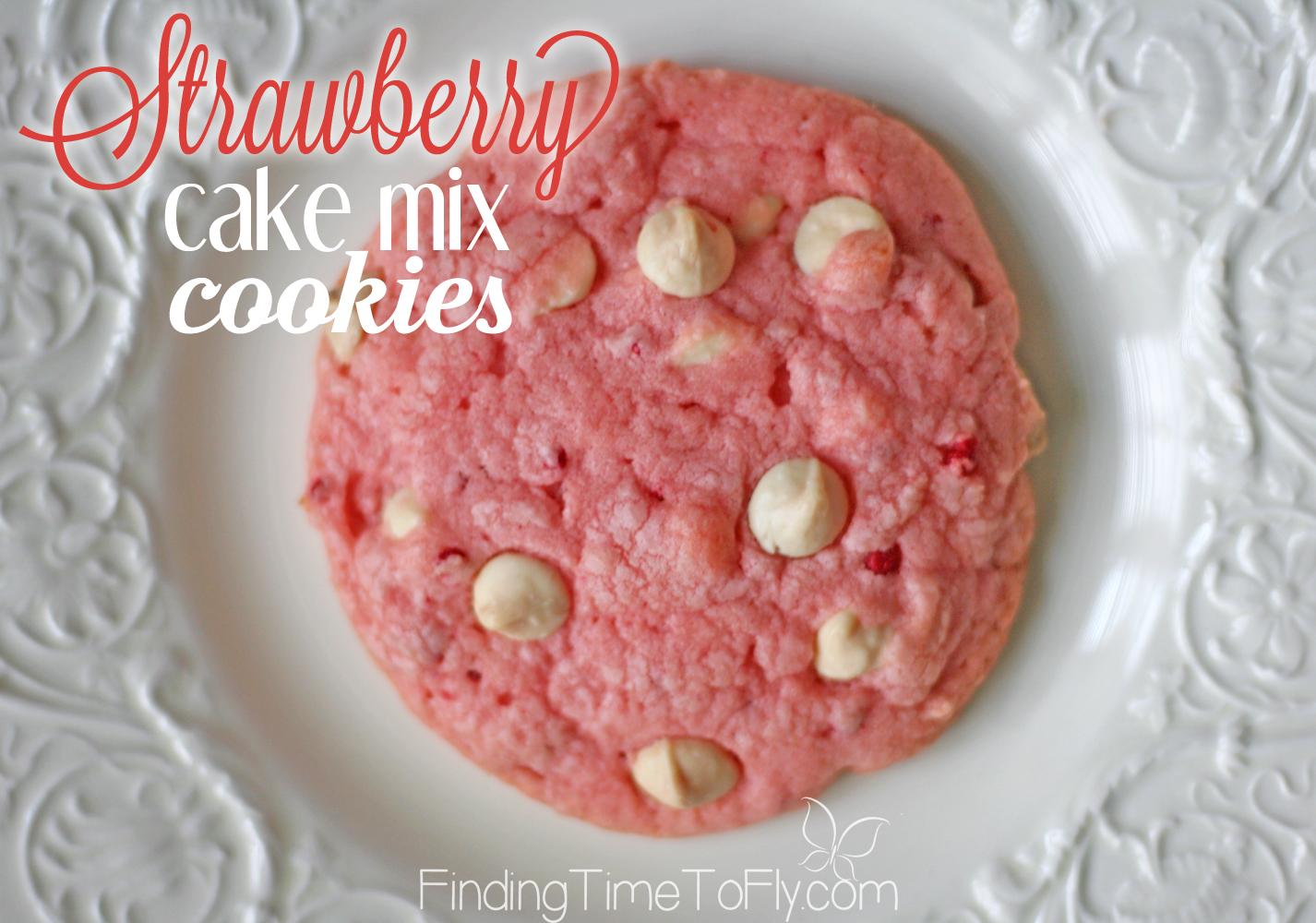 Cake mix cookie recipe strawberry