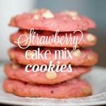 Strawberry Cake Mix Cookies
