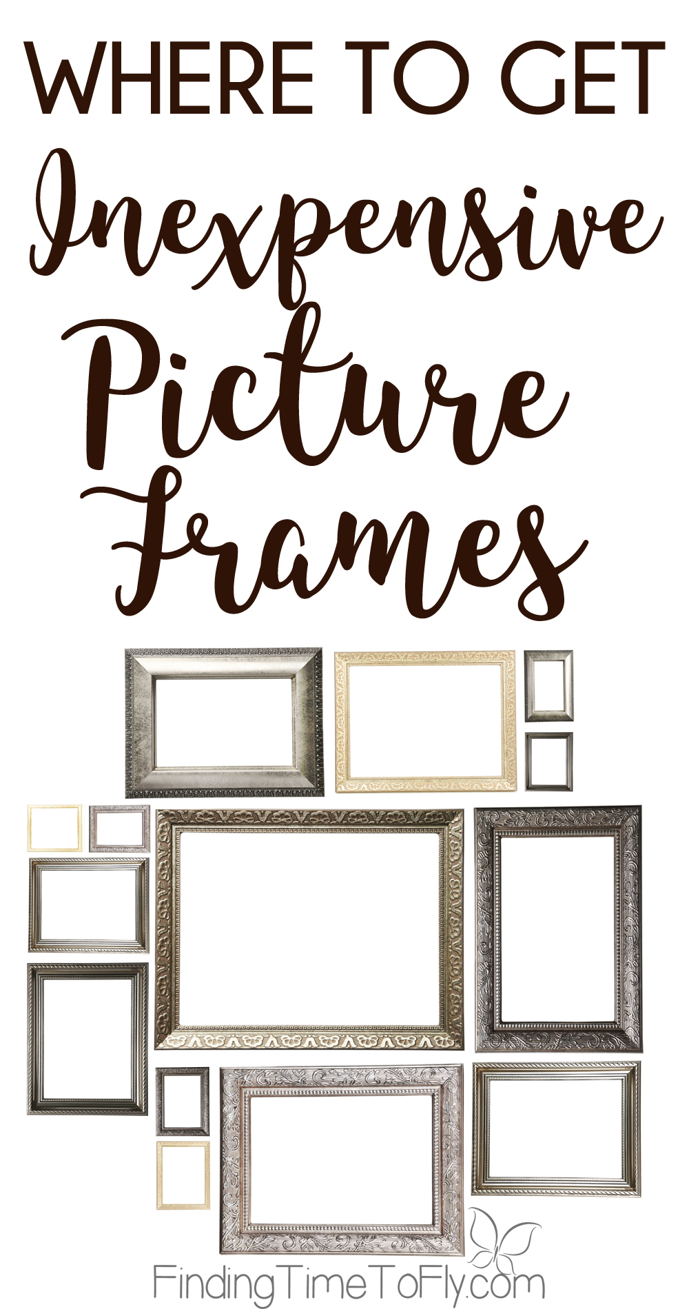 What a great list of where to get inexpensive picture frames. I'm going shopping!