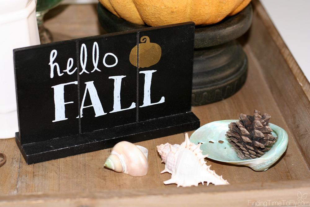 Orange and Teal Fall Decor