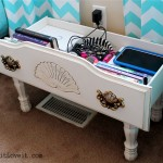 Dresser Drawer turned Nightstand