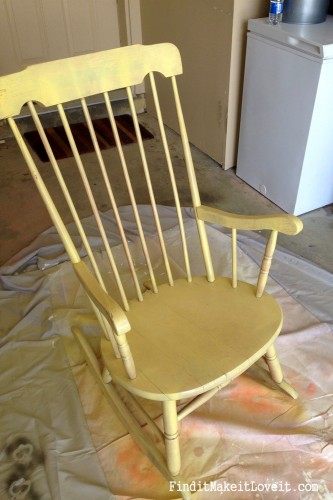 diy rocking chair kit target camp chairs spray painted - find it, make love it