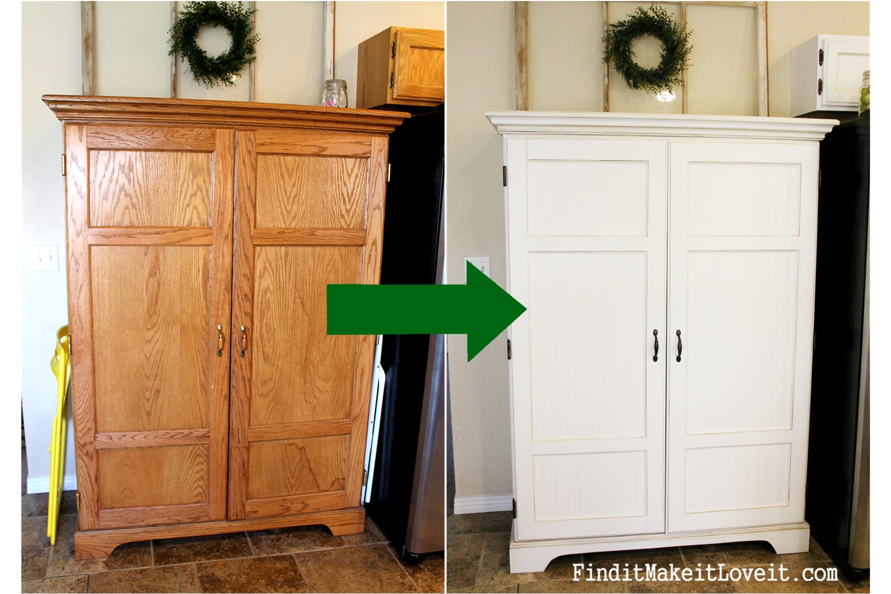 kitchen hutch cabinet ventless hood painted find it make love