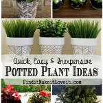 Fun with Potted Plants -Sharpies, Paint, Clothespins, Tin Cans…..