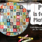 'P' is for Plate!  How to Mod Podge Fabric onto a Glass Plate