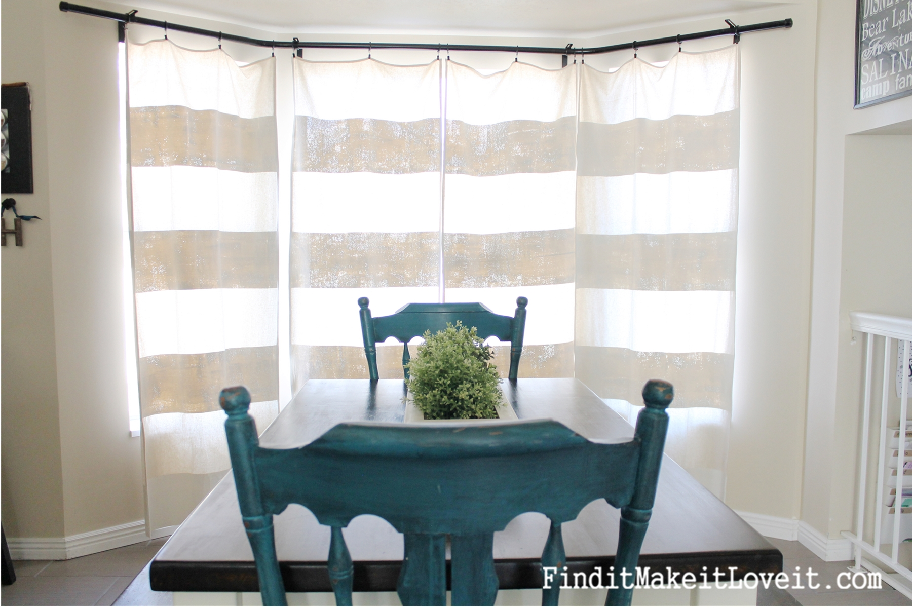 diy painted drop cloth curtains find it make love