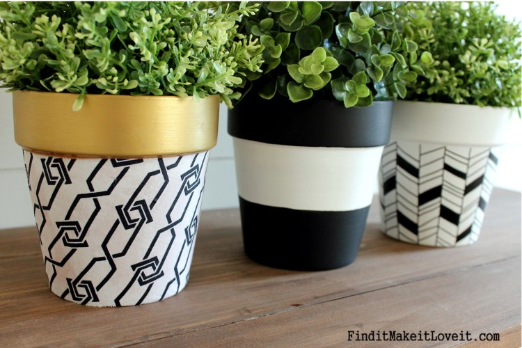 Upcycled Dollar Store Pots (3)