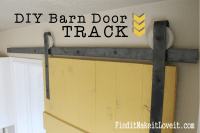 DIY Barn Door Track - Find it, Make it, Love it